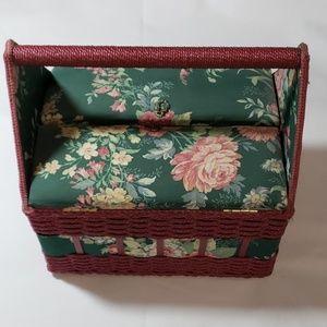 Vintage Floral Design Sewing Box
